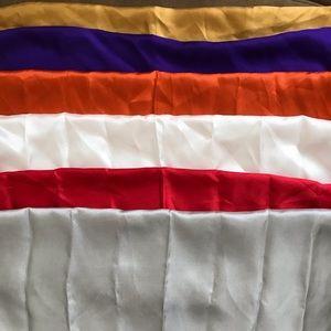 6 silk pocket square fashion neck scarves handroll